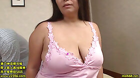 Chubby Japanese mature lady in graceful lingerie