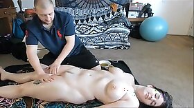 Camgirl oil deep and loud anal massage