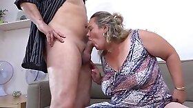 Busty Granny Fucks Her Boyfriend