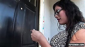 Chained shemale fucking anal with strapon real hardcore horny
