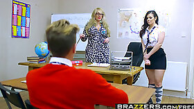 Busty school girls moist porn action