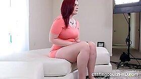Chubby redhead loves interracial sex