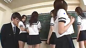 Japanese teacher rough and punishing a student