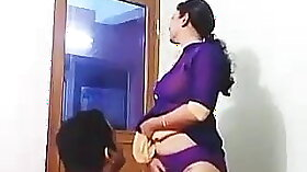 Slutty Aunt Leonelle Coco Gets Pleased by BBC in Office
