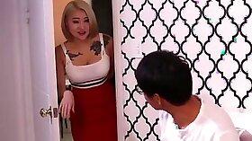 Cheating Korean Wife Gets Slapped Inside By Fake Lover