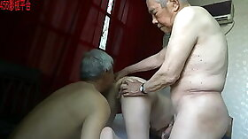 Big hairy mature asian threeway fuck