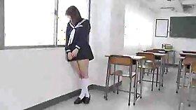 Busty teacher tit fucks her student