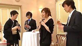 Big jug Freya from Japan fucks a priest on his wedding annce