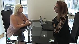 Blonde transsexual gets pussy drilled