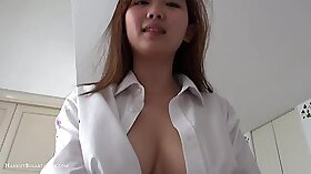 Busty Asian Teen Gets rammed in a House