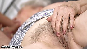 Beefcake stud acquires a fixings in his big tit granny next to the pool