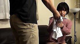 Amazing japanese teen Oni Kitano sucks a cock in school skirt