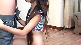 Beautiful Thai Teen Showing Off Her Body