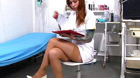 Nurse showing her private parts at the hospital
