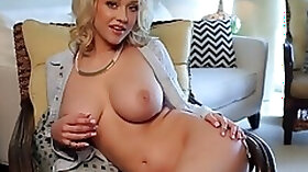 Sabrina Nichole gets naked and shows her big rack at the office
