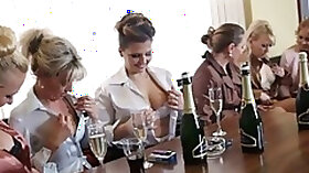 Horny cougars turn a cool party turns into a wild groupsex action