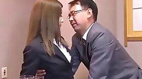 Japanese secretary serves her partner of company full ivcjgbe