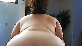 Big booty mommy teasing with her large ass