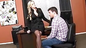 Unearthly tattooed MILF Darcy Tyler is making a best blowjob of my life at workplace