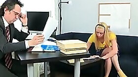 Older teacher is subduing youthful babes wild beaver