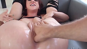Cock size is pinching oily butt