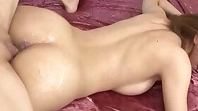 Asian milf is horny and masturbates the bedroom