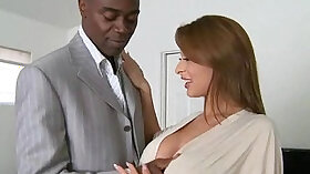 Cock hungry mature girlie fucks with black man moaning in spandex