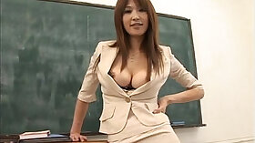 Arousing teacher fucks naughty busty blond chick greedily