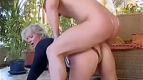 Busty blonde make out with young cock