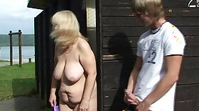 Blonde Whore Sucking Cock and Face Fucked